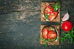 Jarskie diety Crispbread kanapki Obrazy Stock
