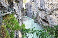 Jaru Aare wąwóz Szwajcaria zdjęcie royalty free