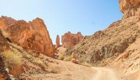 jaru charyn Kazakhstan Dolina kasztele Zdjęcia Stock