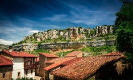 Jaru Ebro rzeka Orbaneja Del Castillo obraz royalty free