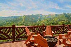 Jaru ośrodka narciarskiego parka Halny miasto Utah Fotografia Royalty Free