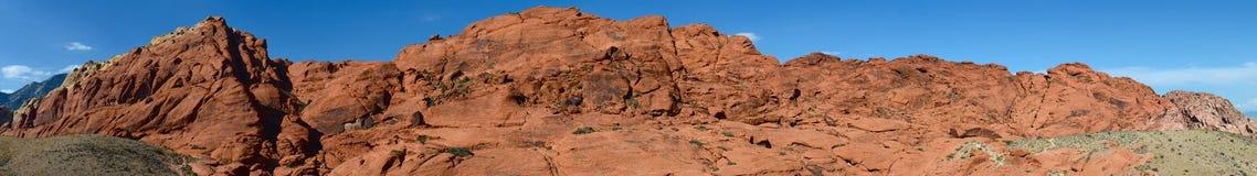 jaru panoramy czerwieni skała Zdjęcia Royalty Free