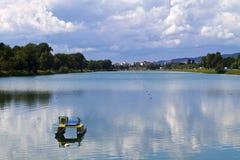Jarun de lac à Zagreb Photos stock