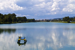 Jarun del lago a Zagabria Fotografie Stock