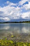 Jarun del lago a Zagabria Fotografie Stock Libere da Diritti
