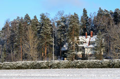 JARVENPAA, FINLAND, JANUARY 22, 2014: Ainola, the home great Fin Stock Photography