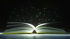 Jarzący się listy tajemniczo vaporize od otwartej książki Czytać lub literatura powiązany 3D rendering ilustracja wektor