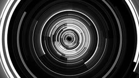 Jarzący się okręgi tunelowych royalty ilustracja