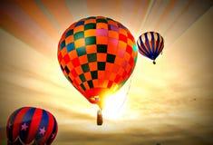 Jarzący się przy 2018 Colorado Springs gorącym powietrzem balony Szybko się zwiększać święto pracy klasyka zdjęcie royalty free