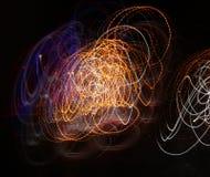 Jarzeniowa energii fala oświetleniowego skutka tła abstrakcjonistyczny obrazek Zdjęcia Royalty Free