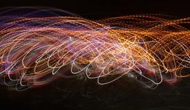 Jarzeniowa energii fala oświetleniowego skutka tła abstrakcjonistyczny obrazek Zdjęcie Royalty Free