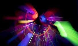 Jarzeniowej ultrafioletowej neonowej seksownej dyskoteki cyber żeńska lala Obrazy Stock