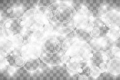 Jarzeniowy lekki skutek również zwrócić corel ilustracji wektora Boże Narodzenie błysk odkurza Białe iskry i połyskuje specjalneg ilustracji