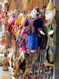 Jarzmowy Thé; Birmańskie marionetki w Myanmar Zdjęcie Royalty Free