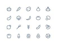 Jarzynowe ikony Kreskowe serie Zdjęcia Royalty Free
