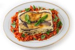 Jarzynowego lasagne odgórny widok Fotografia Stock