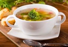 Jarzynowi brokuły zupni fotografia stock