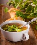 Jarzynowi brokuły zupni zdjęcie stock