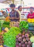 Jarzynowi sklepy przy Kolombo rynkiem Zdjęcie Royalty Free