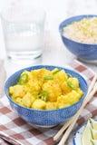 Jarzynowy curry z wapnem i mennicą pionowo, Obrazy Stock