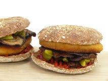 Jarzynowy hamburger Obraz Stock