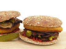 Jarzynowy hamburger Obrazy Royalty Free