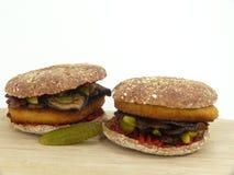 Jarzynowy hamburger Fotografia Stock