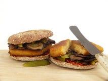 Jarzynowy hamburger Zdjęcie Royalty Free
