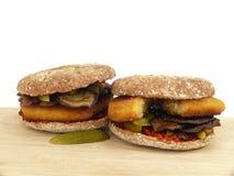 Jarzynowy hamburger Zdjęcia Royalty Free