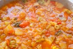 Jarzynowy naczynia sabzi z pomidorowym kumberlandem Fotografia Stock