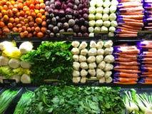 Jarzynowy Rolny produkt spożywczy na sklepu sklepu spożywczego półkach Zdjęcia Royalty Free
