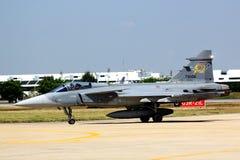 JAS 39 Gripen离开 免版税库存图片