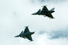 JAS Gripen fighters royalty free stock photos