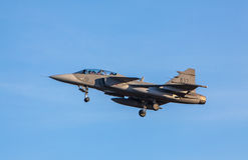 JAS 39 Gripen wojownicy od Szwedzkiej siły powietrzne Obrazy Royalty Free