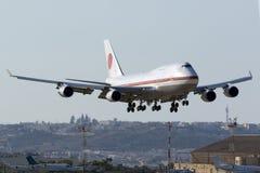 JASDF 747 lors de visite officielle de Premier ministre japonais Photos stock