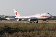JASDF 747 lors de visite officielle de Premier ministre japonais Photo libre de droits