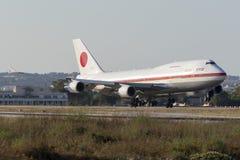 JASDF 747 na visita oficial do Primeiro-ministro japonês Fotos de Stock Royalty Free