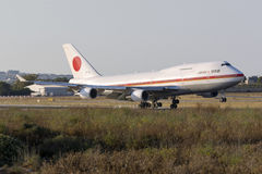 JASDF 747 na visita oficial do Primeiro-ministro japonês Foto de Stock Royalty Free