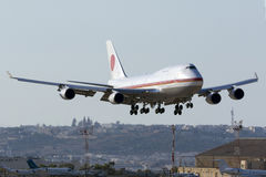 JASDF 747 on official visit of Japanese Prime Minister Stock Photos