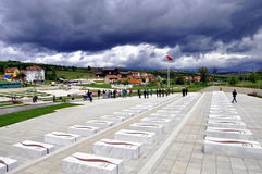 Jashari rodzinni grobowowie, Prekaz, Kosowo obrazy royalty free