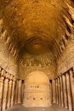 jaskiniowa sala kanheri modlitwa zdjęcia royalty free
