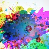Jaskrawa abstrakcjonistyczna tekstura od kiści farby Zdjęcie Stock