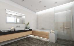 Jaskrawa łazienka Z Candels Zdjęcie Royalty Free
