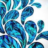 Jaskrawa błękitne wody opuszcza tło royalty ilustracja