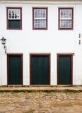 Jaskrawa barwiona fasada obrazy royalty free