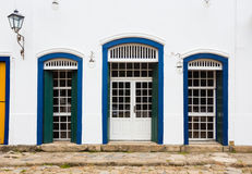 Jaskrawa barwiona fasada obrazy stock