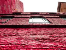 Jaskrawa czerwieni ściana obrazy royalty free