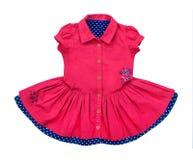 Jaskrawa elegancka czerwona dziecko suknia obrazy stock