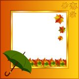 Jaskrawa fotografii ramy jesień Obraz Royalty Free