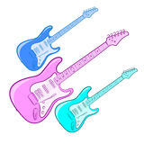 Jaskrawa gitara elektryczna Zdjęcie Stock